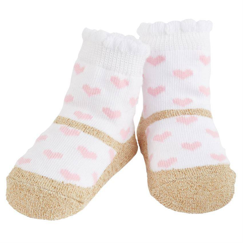 Mud Pie Pink Heart Socks, MP-Mud Pie, Putti Fine Furnishings