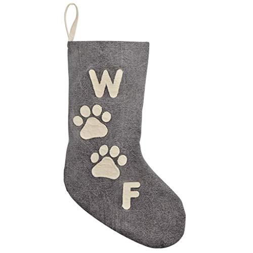 "Mud Pie Santa Paws ""Woof"" Stocking"