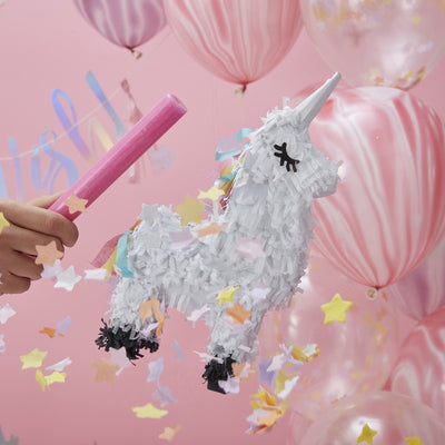 """Make a Wish"" Mini Unicorn Piñata, GR-Ginger Ray UK, Putti Fine Furnishings"