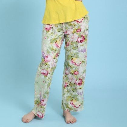 "Mahogany ""Bridgette"" Floral Cotton Pyjama Pant in Bag 