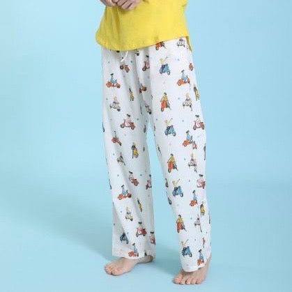 """Vespa Squad"" Pyjama Pant in Bag 