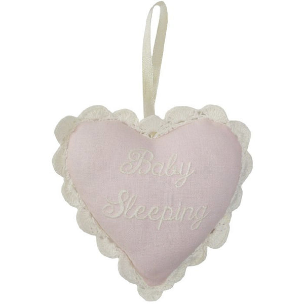 """Baby Sleeping"" Lavender Heart Sachet-Sachet-PC-Powell Craft Uk-Pink-Putti Fine Furnishings"