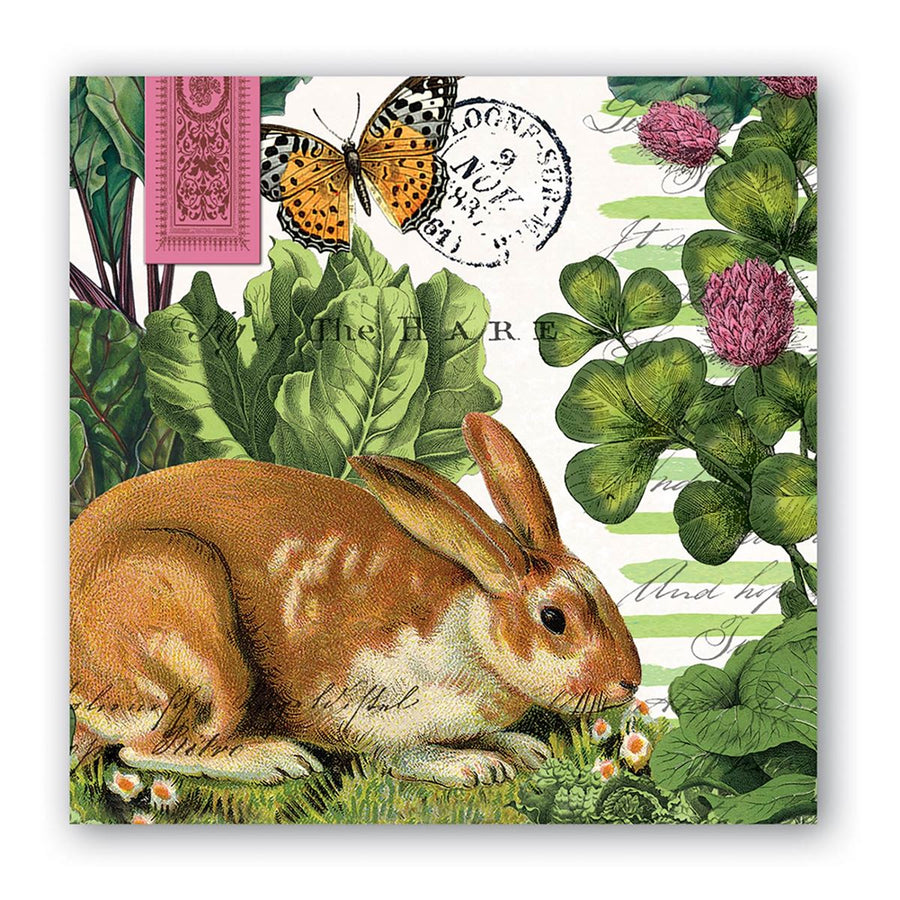 Michel Design Works Garden Bunny Paper Napkins - Cocktail - Putti Fine Furnishings Canada