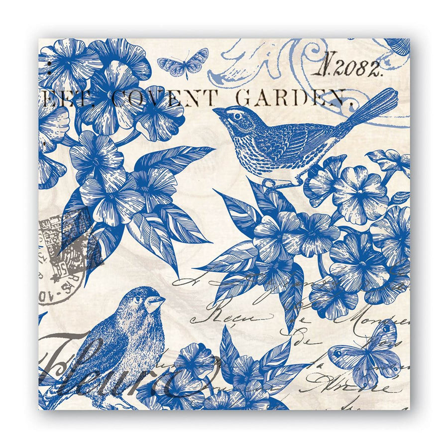 Indigo Cotton Paper Napkins - Beverage