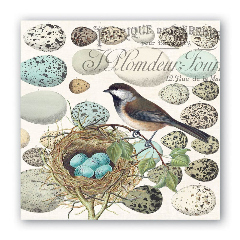 Michel Design Works Nest & Eggs Paper Napkin - Beverage