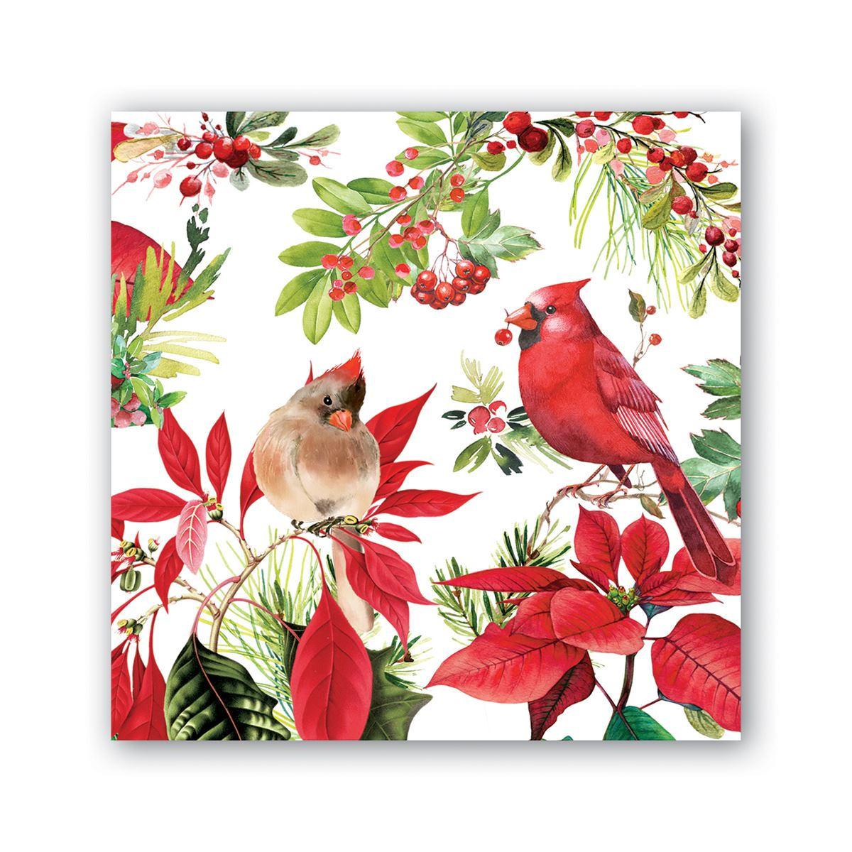 Michel Design Works Poinsettia Cocktail Napkins | Putti Christmas Canada