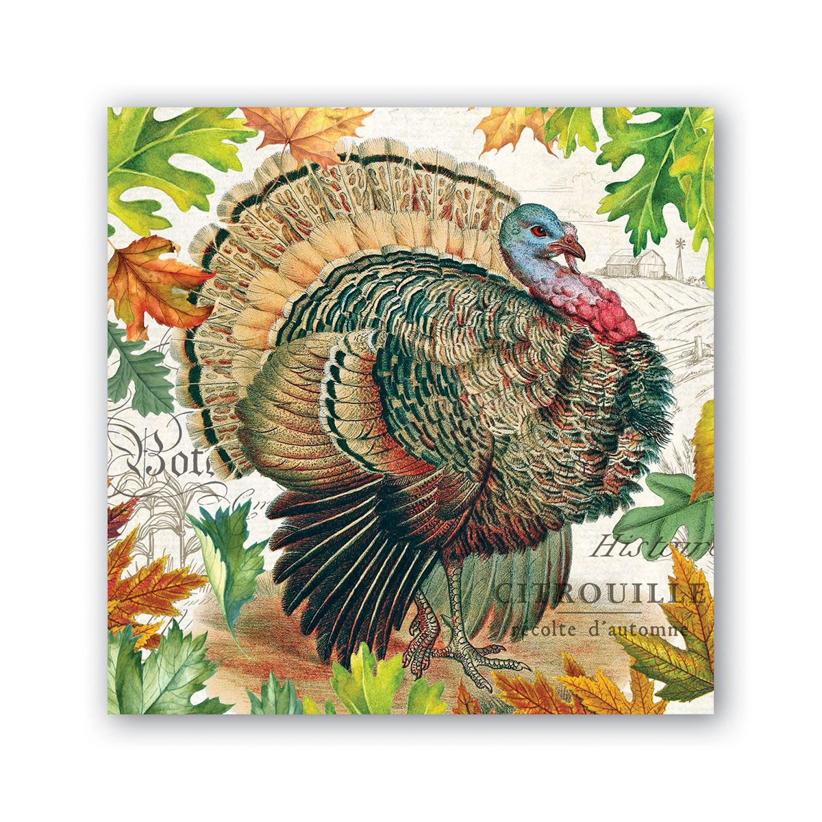 Michel Design Works Fall Harvest Cocktail Paper Napkin | Putti Thanksgiving