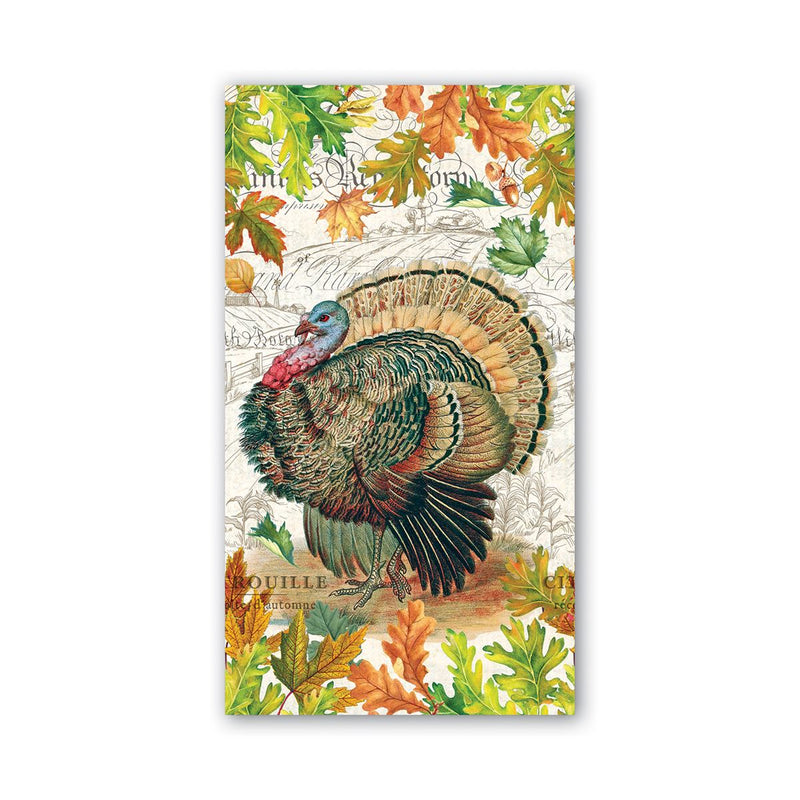 Michel Design Works Fall Harvest Hostess Paper Napkin | Putti Thanksgiving
