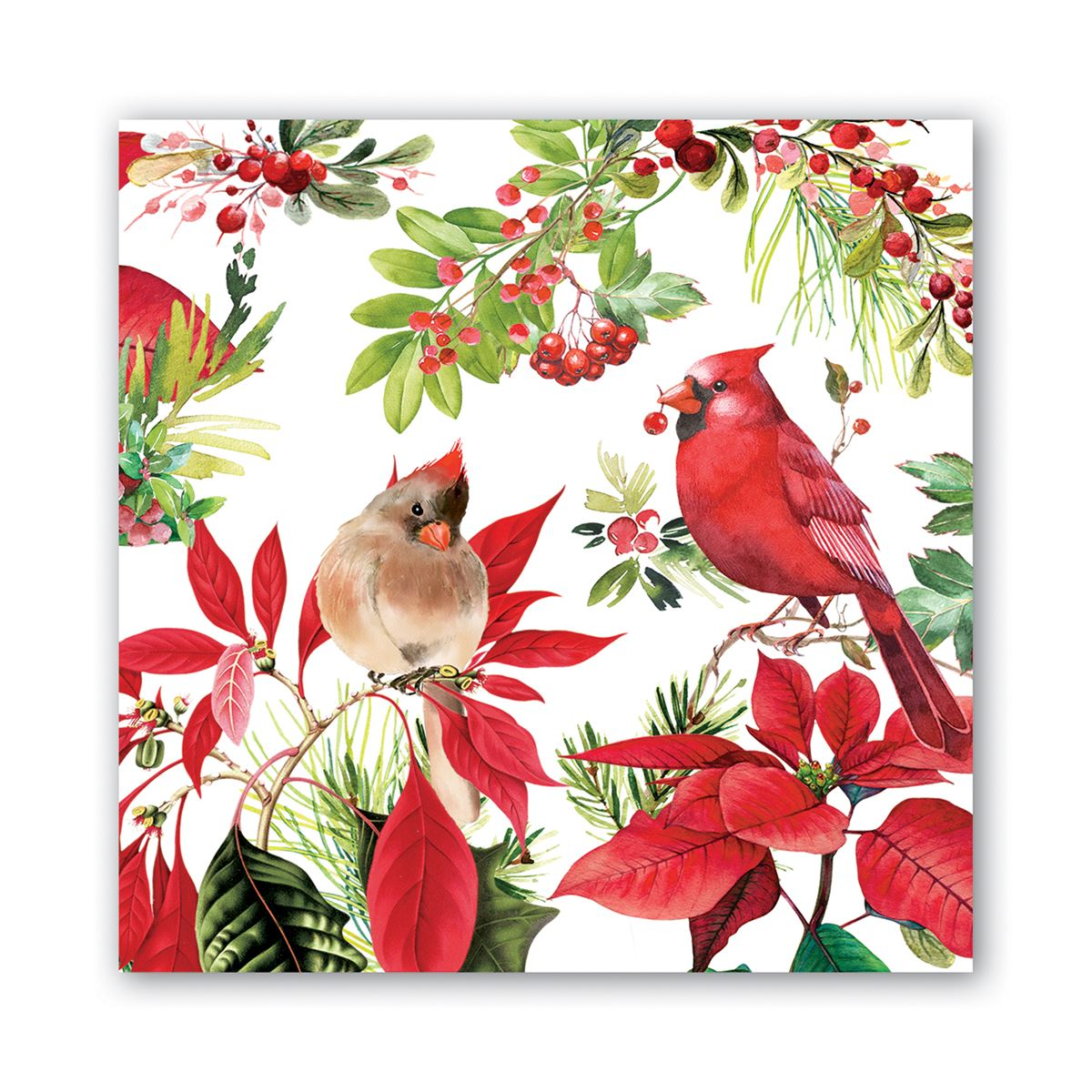 Michel Design Works Poinsettia Lunch Napkins | Putti Christmas Canada