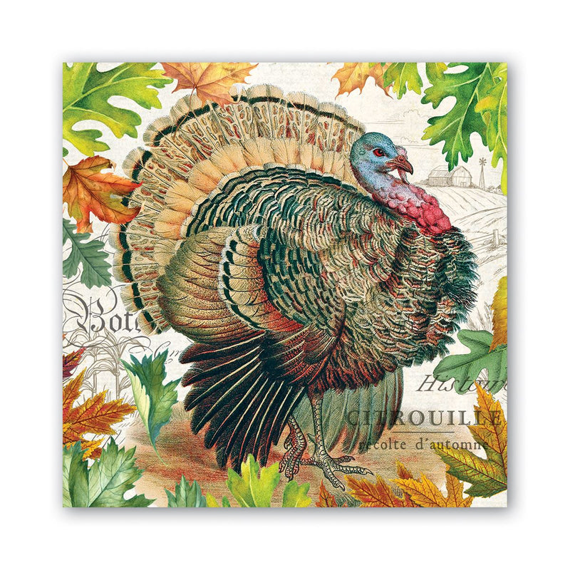 Michel Design Works Fall Harvest Lunch Paper Napkin | Putti Thanksgiving