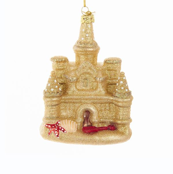Kurt Adler Glass Sand Castle Ornament