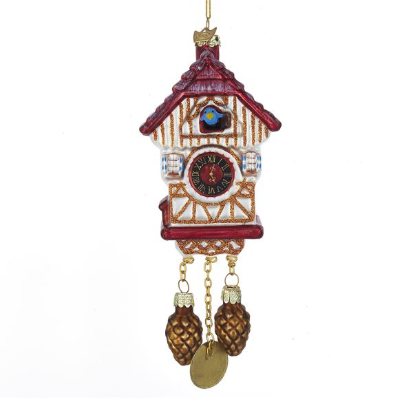 Kurt AdlerNoble Gems Cuckoo Clock Glass Ornament