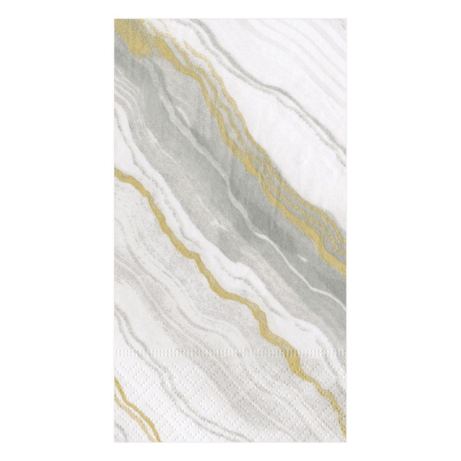 Grey Marble Paper Napkin - Guest