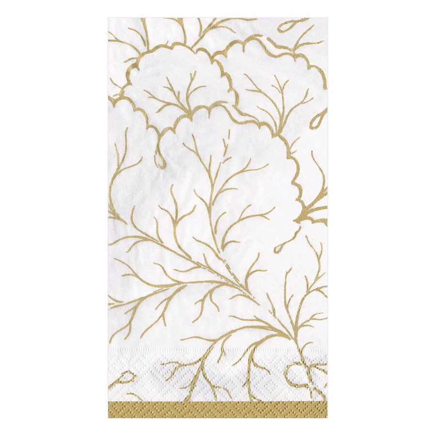 """Gilded Majolica"" Ivory Paper Napkin - Guest"