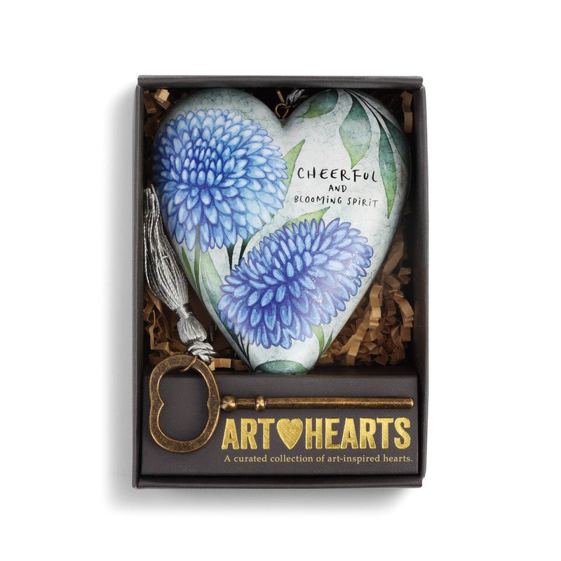 """November Cornflower Birth Flower Art Heart 
