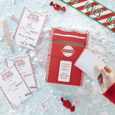 Elf Report Card and Post Box