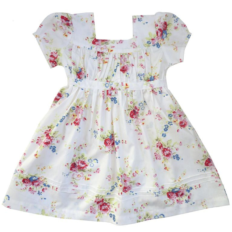 """Eve"" White Floral Dress, PC-Powell Craft Uk, Putti Fine Furnishings"