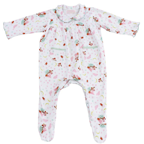Owl and the Pussycat Print Jumpsuit - 0-6 months Children's Clothing - Powell Craft Uk - Putti Fine Furnishings Toronto Canada