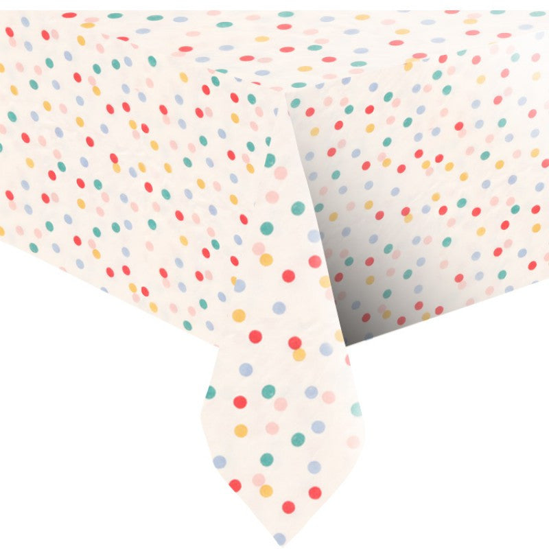 "Meri Meri ""Toot Sweet"" Spotty - Paper Tablecloth -  Party Supplies - Meri Meri UK - Putti Fine Furnishings Toronto Canada - 3"