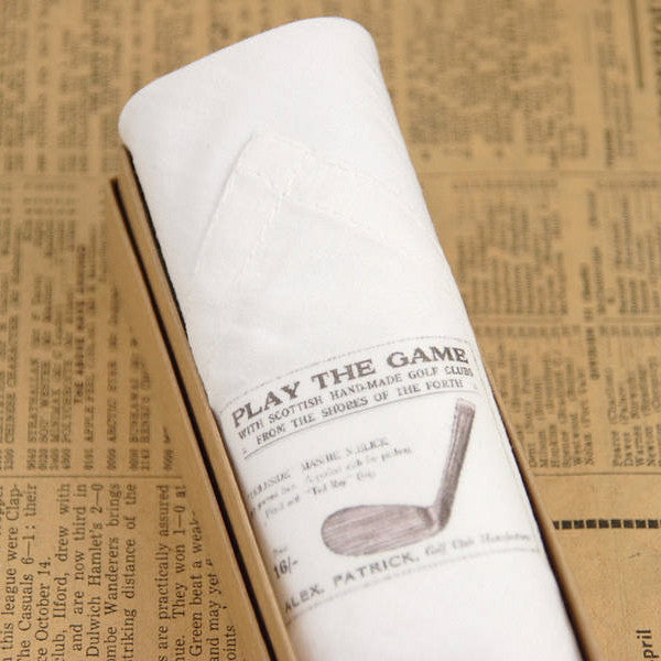 "Tamielle ""Play the Game"" Men's Golf Hanki, Tamielle, Putti Fine Furnishings"
