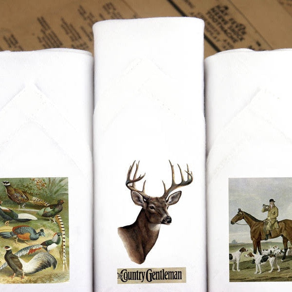"Tamielle ""Country Gentelman"" Box of Three Men's Hankies -  Personal Accessories - Tamielle - Putti Fine Furnishings Toronto Canada - 1"