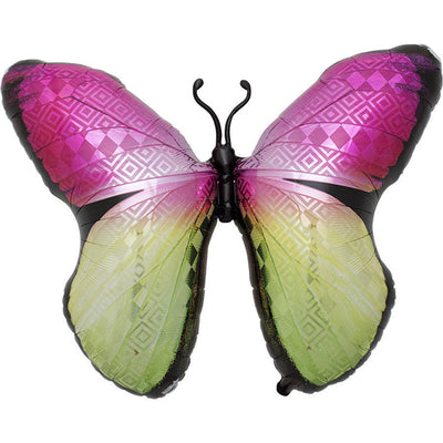 Giant Monarch Mylar Balloon - Pink and Green -  Party Supplies - Northstar Balloons - Putti Fine Furnishings Toronto Canada - 1
