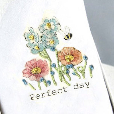 "Tamielle ""Perfect Day"" Embroidered Hanki, Tamielle, Putti Fine Furnishings"