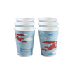"""Flying High"" Vintage Aeroplane - Paper Cups, GR-Ginger Ray UK, Putti Fine Furnishings"