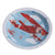 """Flying High"" Vintage Aeroplane - Paper Plate, GR-Ginger Ray UK, Putti Fine Furnishings"