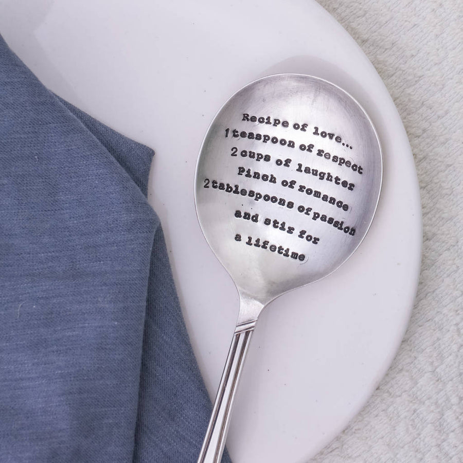 """Recipe of Love "" Vintage Serving Spoon"