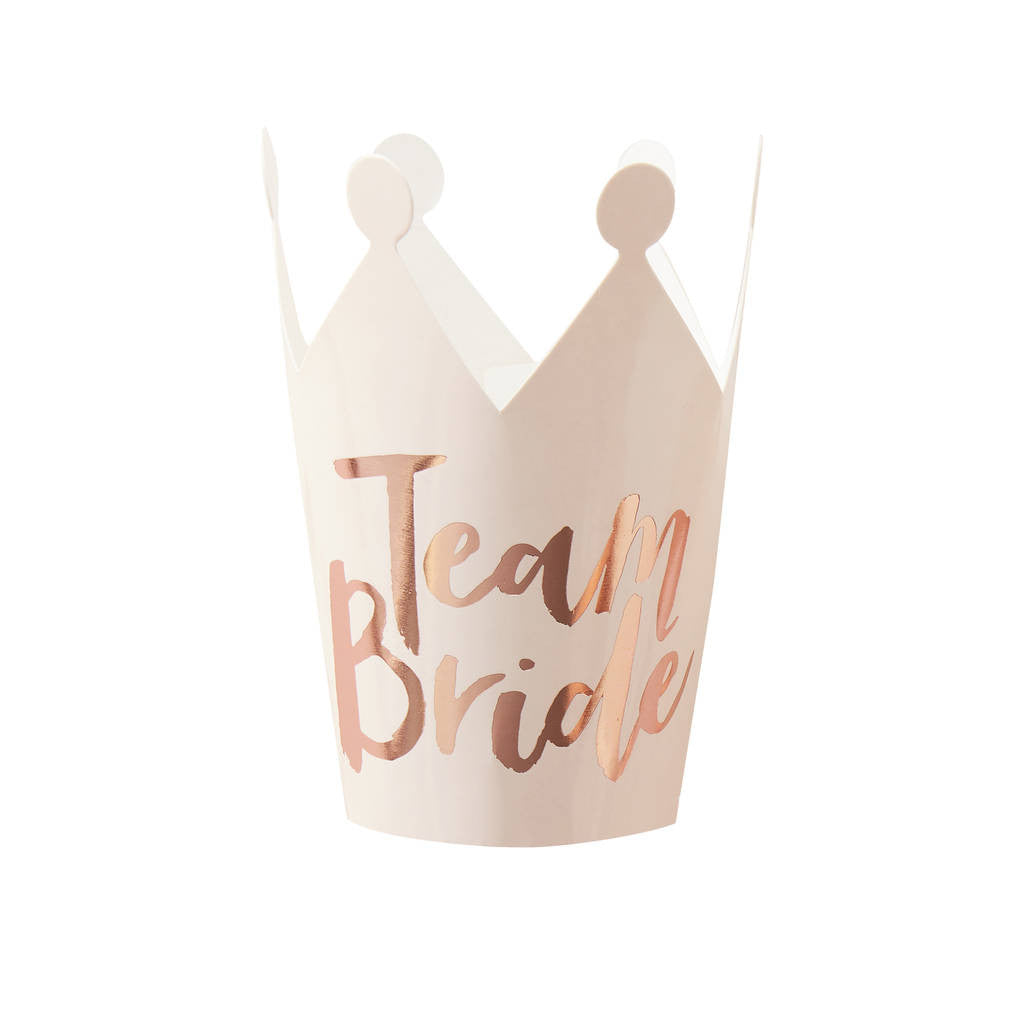 """Team Bride"" Mini Party Crowns, GR-Ginger Ray UK, Putti Fine Furnishings"