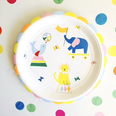Meri Meri Silly Circus - Large Paper Plates -  Party Supplies - Meri Meri UK - Putti Fine Furnishings Toronto Canada - 3