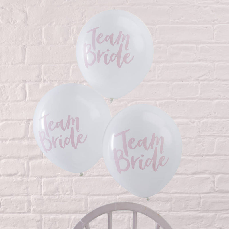 """Team Bride"" Balloons, GR-Ginger Ray UK, Putti Fine Furnishings"