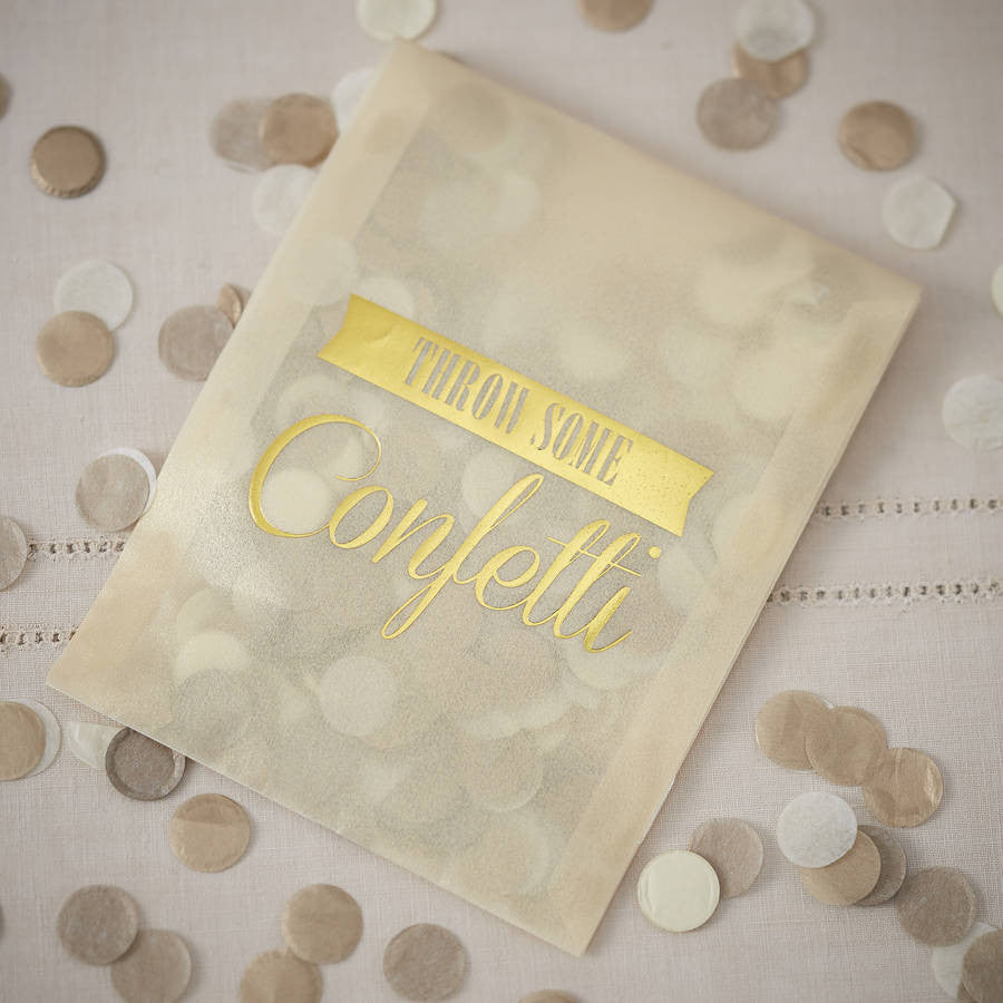 Vintage Style Confetti Envelopes - Gold, GR-Ginger Ray UK, Putti Fine Furnishings