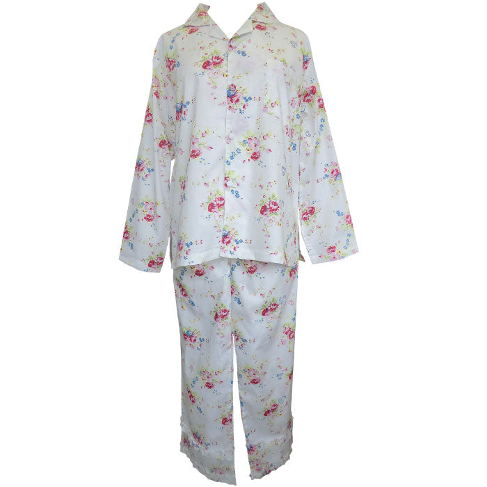 """Yasmin"" Floral Ladies Cotton Pyjamas"