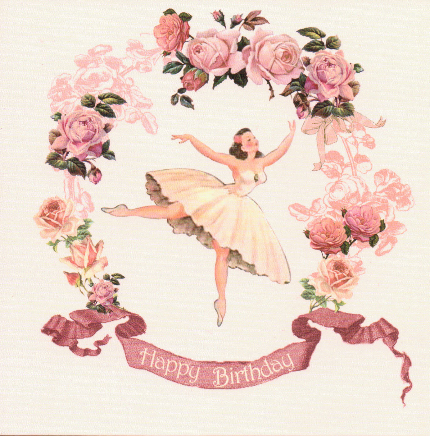"Playtime ""Balllerina"" Happy Birthday Card, PC-Powell Craft Uk, Putti Fine Furnishings"
