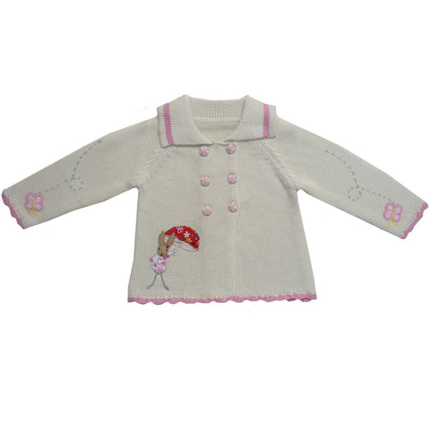 Rabbit Pram Coat -  Children's Clothing - Powell Craft Uk - Putti Fine Furnishings Toronto Canada - 1