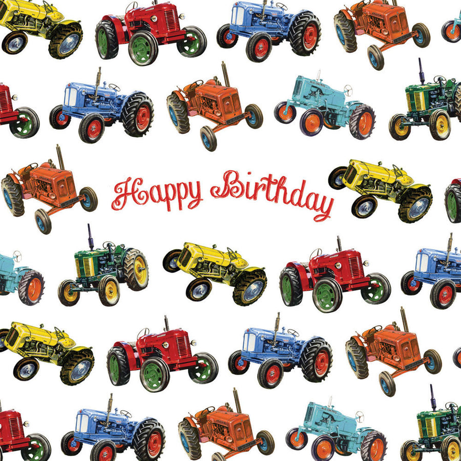 "Playtime ""Tractor"" Happy Birthday Card"