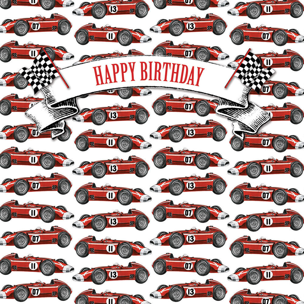 "Playtime ""Vintage Racing Car"" Birthday Card, PC-Powell Craft Uk, Putti Fine Furnishings"