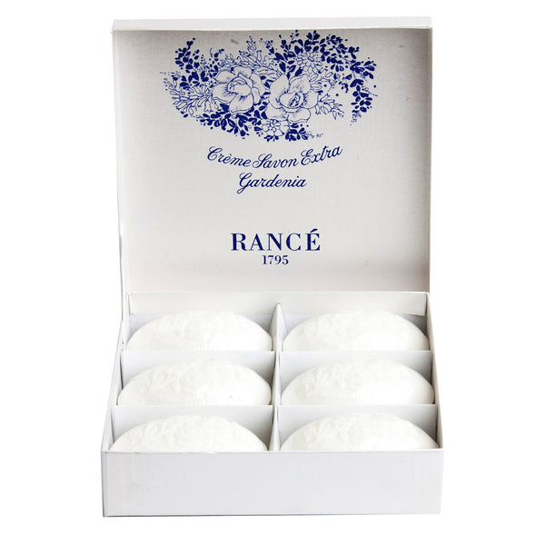 Rance Gardenia Soap-Personal Fragrance-RAN-Rance-Gift box - 6 100g Soaps-Putti Fine Furnishings