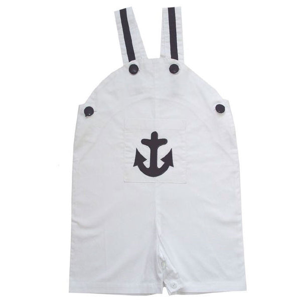 Anchor Dungarees - 0-6 Months (special order 2 weeks) Children's Clothing - Powell Craft Uk - Putti Fine Furnishings Toronto Canada - 1