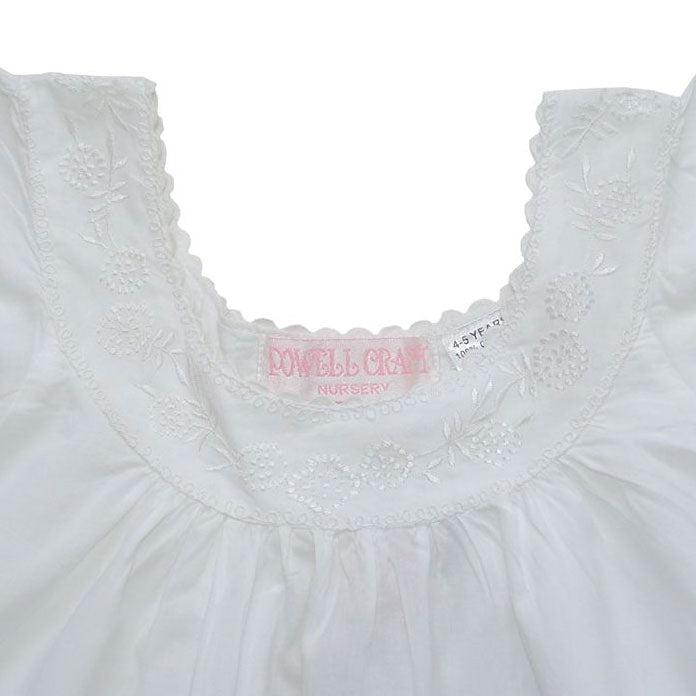 """Clementine"" White Cotton Night Dress"