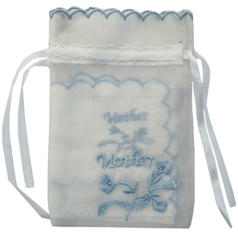 """Mother"" Embroidered Hanki in Voile Bag-Personal Accessories-PC-Powell Craft Uk-Putti Fine Furnishings"