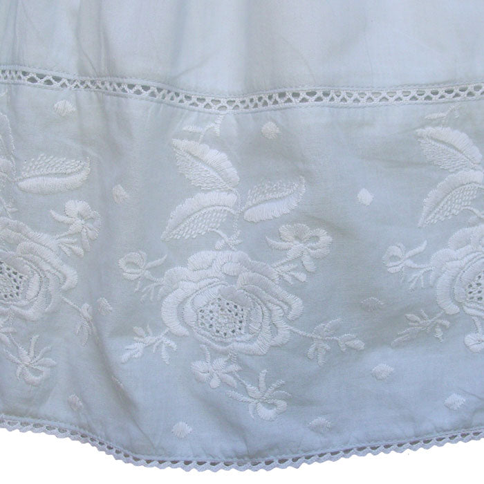 """Pearl"" Blue Embroidered Dress, PC-Powell Craft Uk, Putti Fine Furnishings"