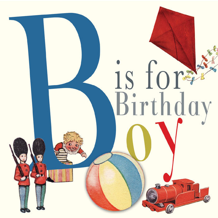 "Playtime ""B is for Boy"" Birthday Card, PC-Powell Craft Uk, Putti Fine Furnishings"