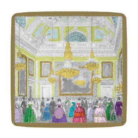 "Chatsworth ""Devonshire Ball"" Paper Plates - Small, CI-Caspari, Putti Fine Furnishings"