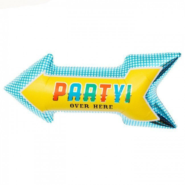 """Party"" Arrow Mylar Balloon, Northstar Balloons, Putti Fine Furnishings"