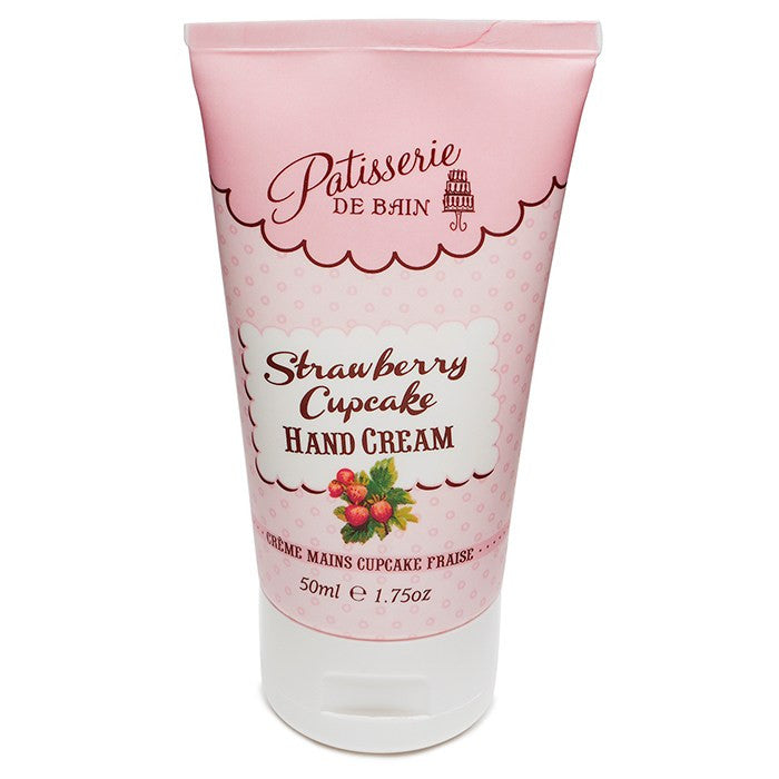 """Patisserie de Bain"" Hand Cream Tube Strawberry Cupcake-Bath Products-Rose & Co-Putti Fine Furnishings"