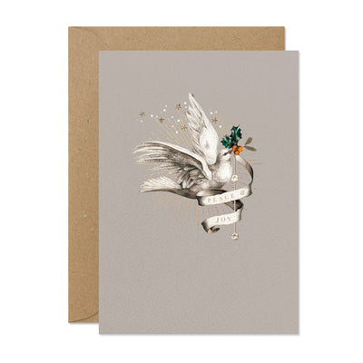 """Peace and Joy"" Dove Christmas Card Pack"