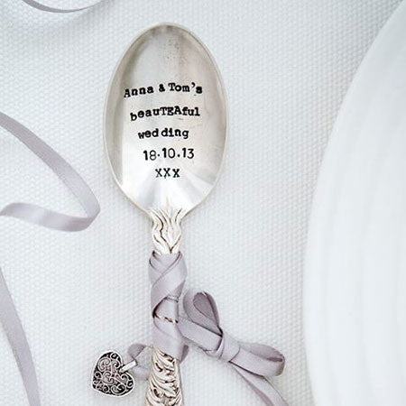 Personalized - Vintage Tea Spoon -  Tableware - La De Da Living - Putti Fine Furnishings Toronto Canada - 1